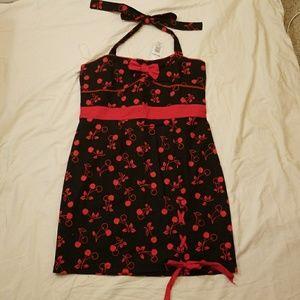 Hot Topic Cherry Print Pinup Dress XXL NWT
